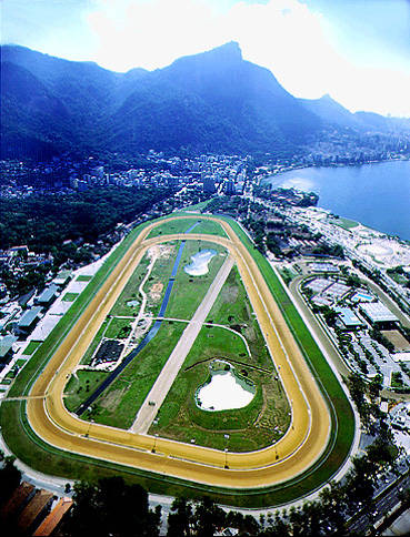 The HipÓdromo da GÁvea, Rio de Janeiro, Brazil, considered to be one of the more important racetracks, called by many international experts to be the more beautiful in the world