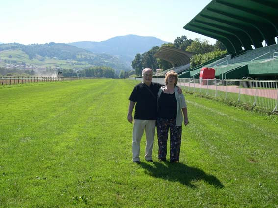 Luiz Eduardo Lages and Iréne Lages in San Sebastian Racecourse, Spain